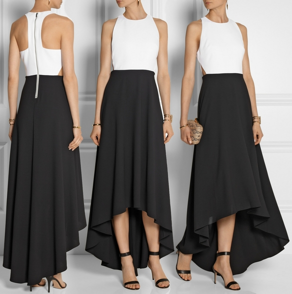 Alice N Olivia Cady Maxi Dress Black And White
