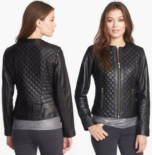 Cole Haan Collarless Quilted Leather Jacket Dream Of A Dress Blog