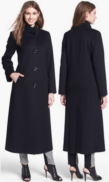 Long Black Cashmere Coat - Sm Coats
