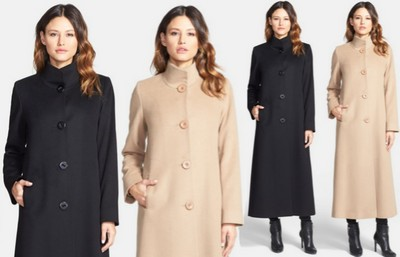 Fleurette Stand Collar Long Cashmere Coat – Dream Of A Dress Blog