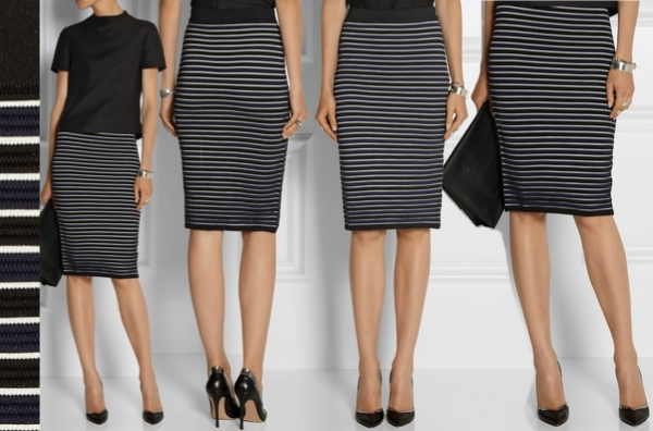 Jonathan Simkhai Striped Ribbed-Knit Pencil Skirt – Dream Of A ...