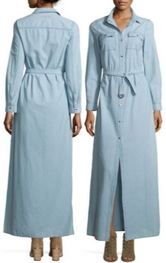2c924f6029 michael michael kors chambray maxi shirtdress