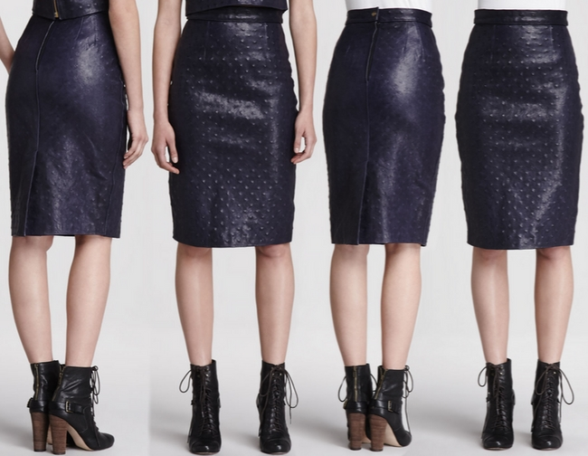 Korovilas Monica l'Oeil Leather Pencil Skirt – Dream Of A Dress Blog