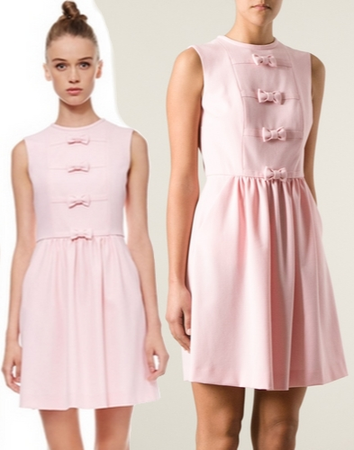 Red Valentino Pink Bow Front Dress