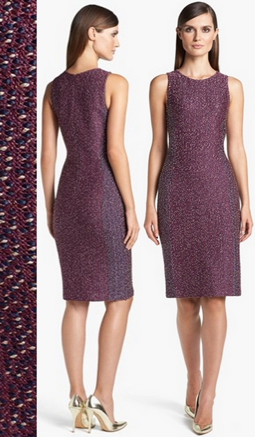 St John Collection Dash Tweed Knit Dress